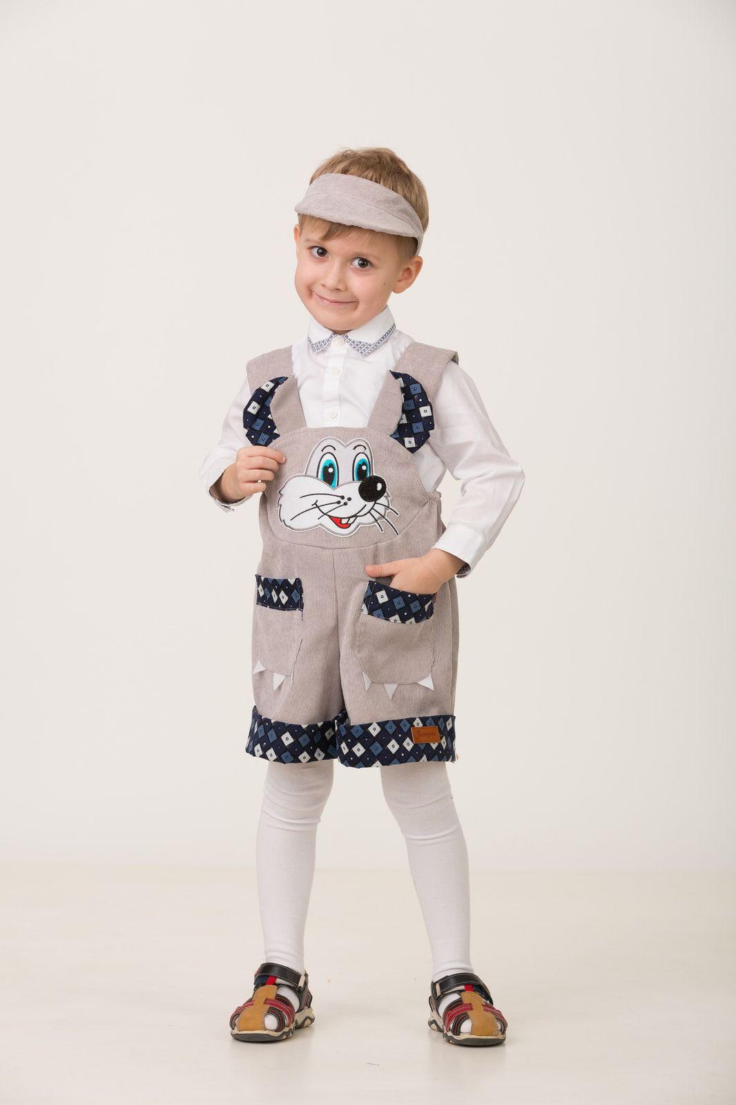 Карнавальный костюм Jeanees Мышонок Масик, цвет: серый. Размер: 28 карнавальный костюм jeanees мышонок масик цвет серый размер 24