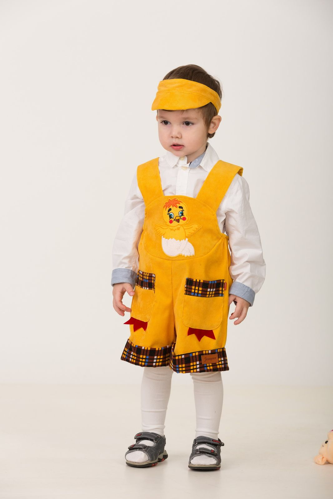 Карнавальный костюм Jeanees Цыплёнок Пончик, цвет: желтый. Размер: 30 карнавальный костюм jeanees зайка капризка цвет голубой размер 30