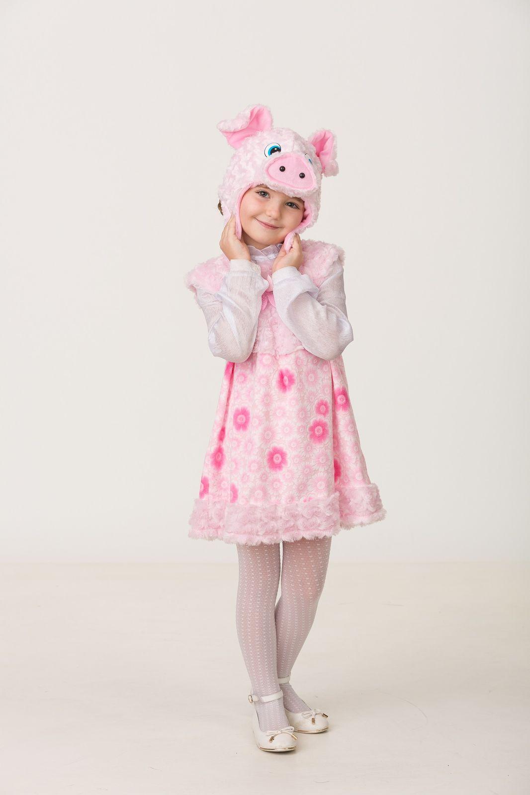 Карнавальный костюм Jeanees Свинка Бетта, цвет: розовый. Размер: 26 карнавальный костюм jeanees мышонок масик цвет серый размер 24