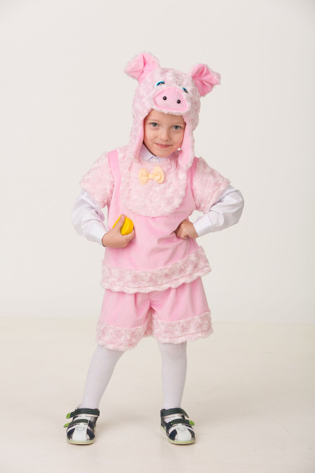 Карнавальный костюм Jeanees Поросёнок Рюрик, цвет: розовый. Размер: 26 карнавальный костюм jeanees зайчонок хвастунишка цвет голубой размер 24