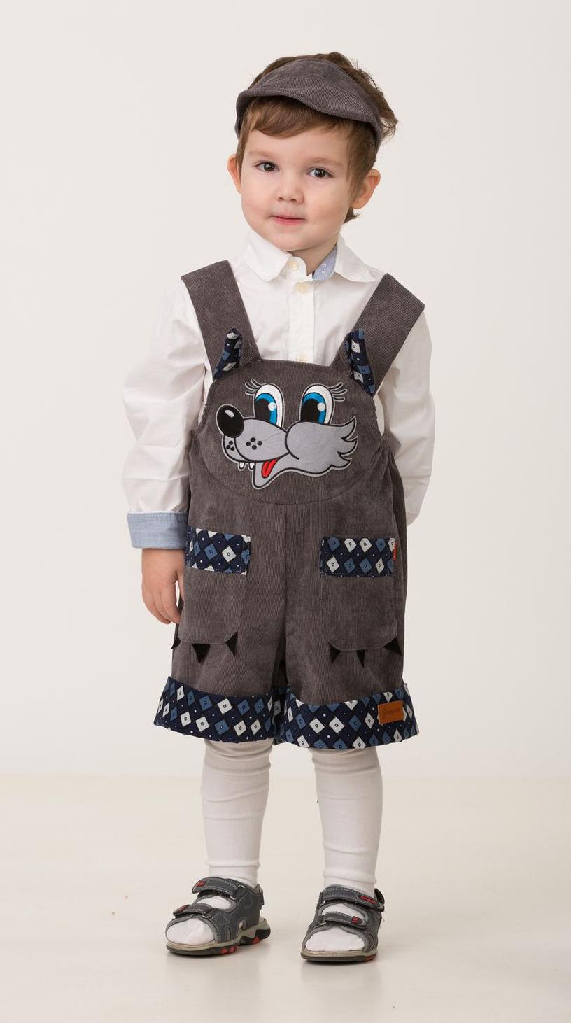 Карнавальный костюм Jeanees Волчонок Крепыш, цвет: тёмно-серый. Размер: 30 карнавальный костюм jeanees мышонок масик цвет серый размер 24