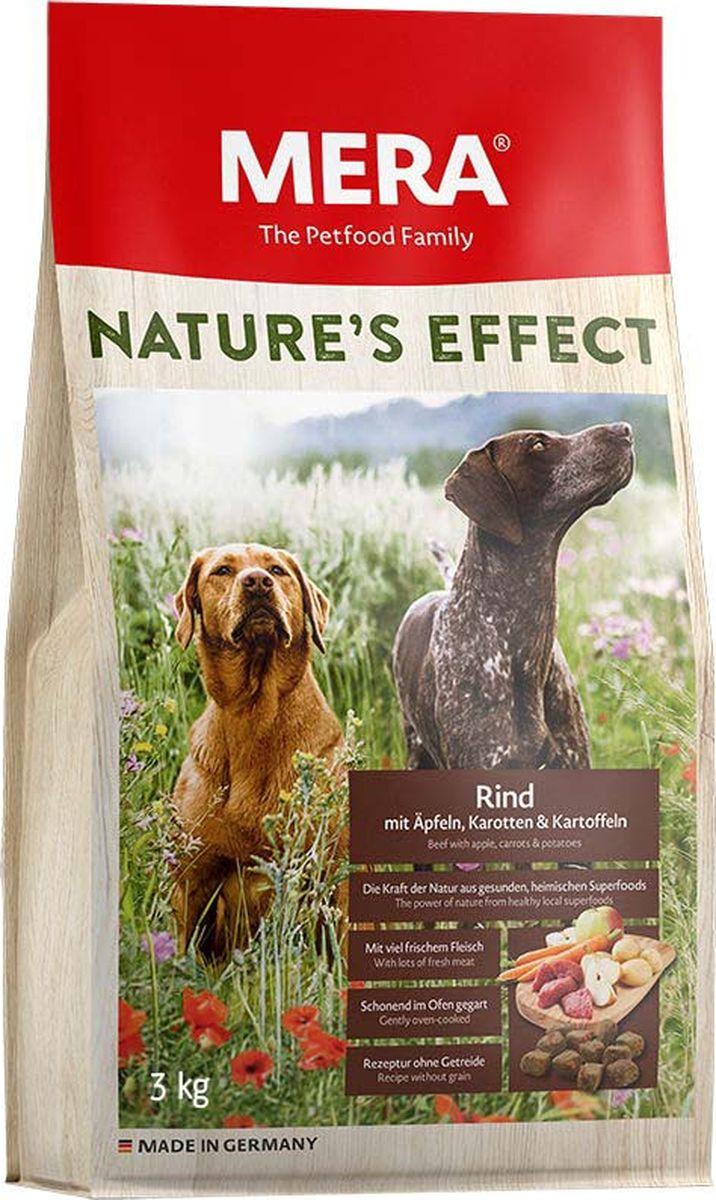 Сухой корм для собак Mera Nature'S Effect, говядина с яблоками, морковью и картофелем, 3 кг