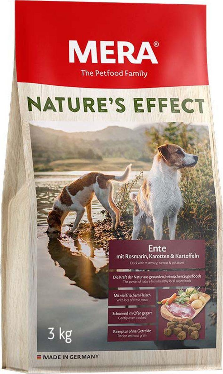 Сухой корм для собак Mera Nature'S Effect, утка с розмарином, морковью и картофелем, 3 кг