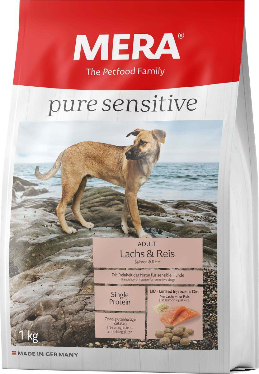 Сухой корм для собак Mera Pure Sensitive Adult, лосось и рис, 1 кг mera сухой корм mera pure sensitive adult truthahn