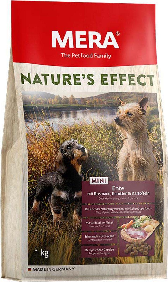 Сухой корм Mera Nature'S Effect Mini, для собак малых пород, утка с розмарином, морковью и картофелем, 1 кг