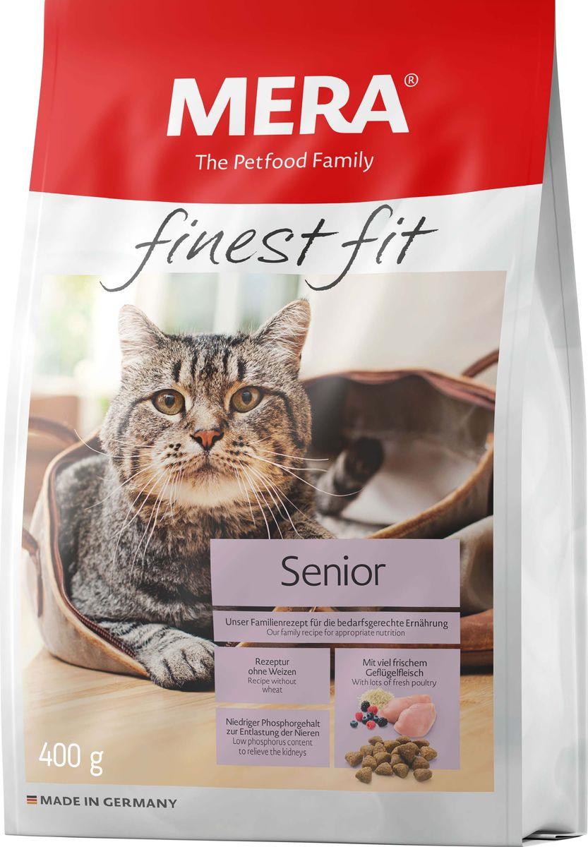 Сухой корм Mera Finest Fit Senior 8+, для пожилых кошек, 400 г