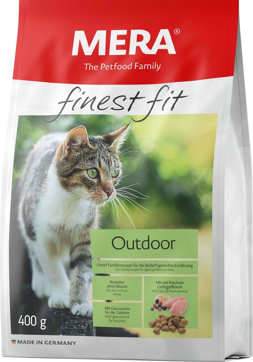 Сухой корм Mera Finest Fit Outdoor, для активных, гуляющих на улице кошек, 400 г