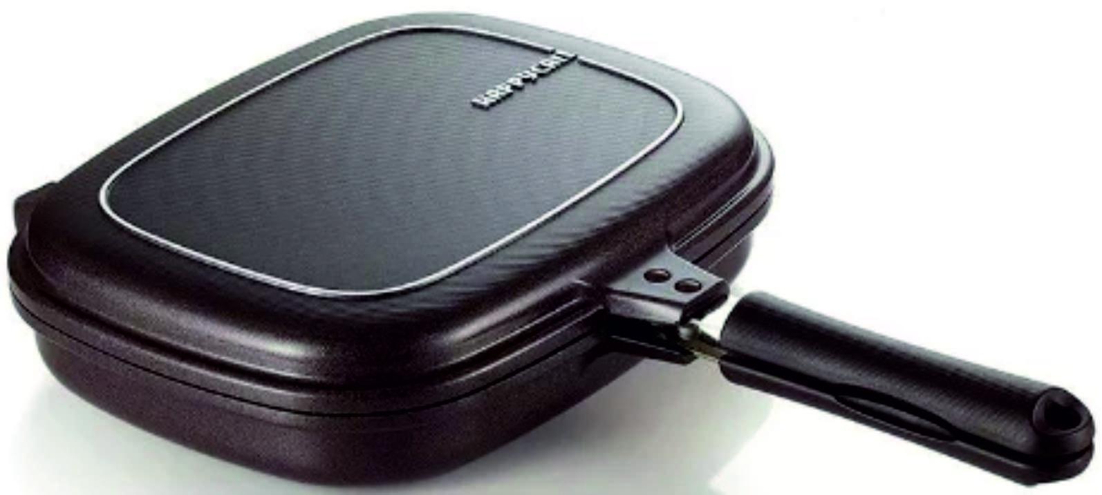 Сковорода двойная Happycall Titanium Double Pan Jumbo Grill Джамбо Гриль, 3002-0074 с титановым покрытием портерхаус