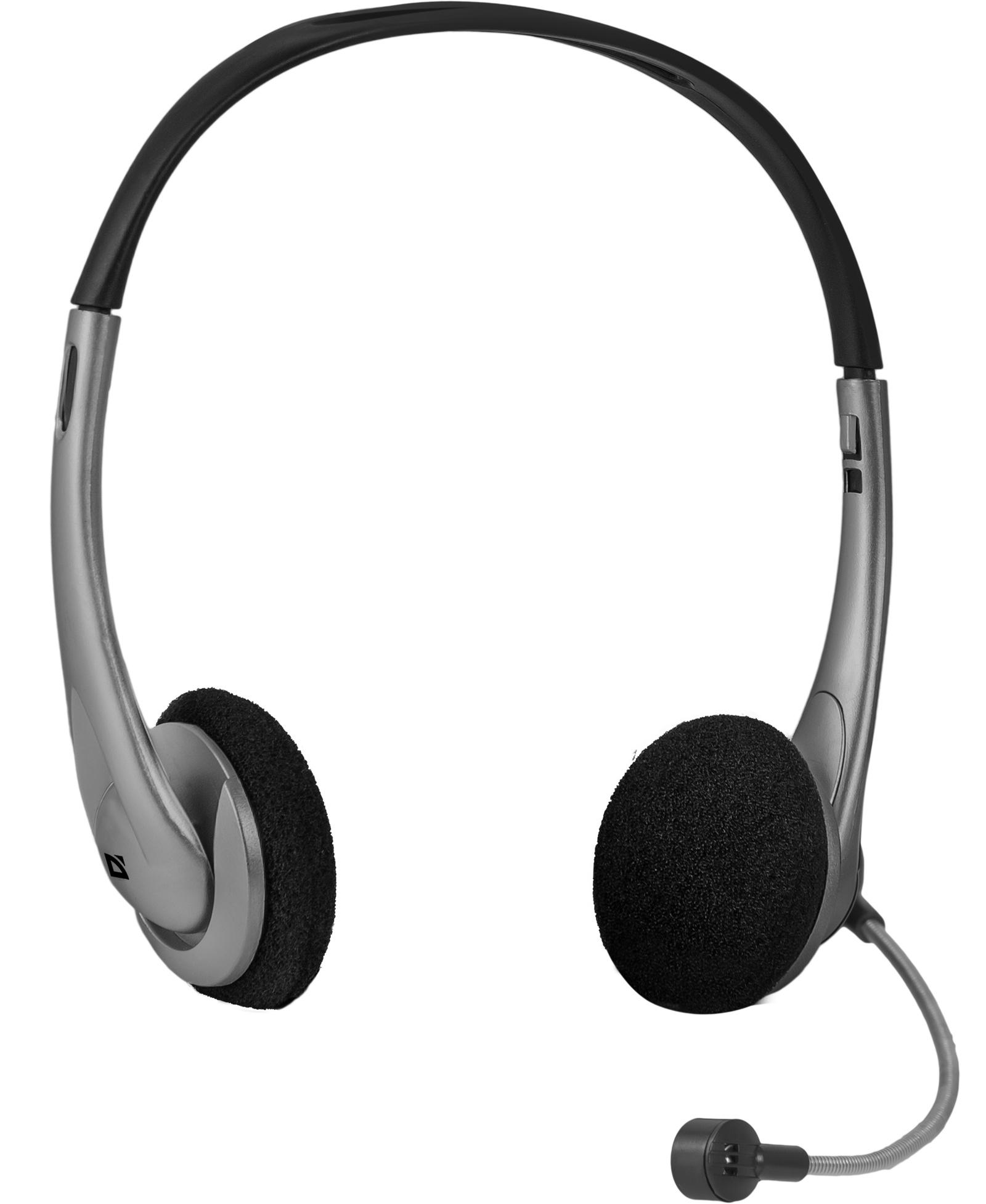 Компьютерная гарнитура Defender Aura 114, черный, серый цена