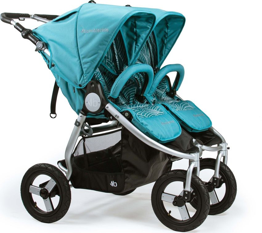 Коляска прогулочная Bumbleride Indie Twin, Tourmaline Wave адаптер bumbleride для коляски indie twin car seat adapter single нижний