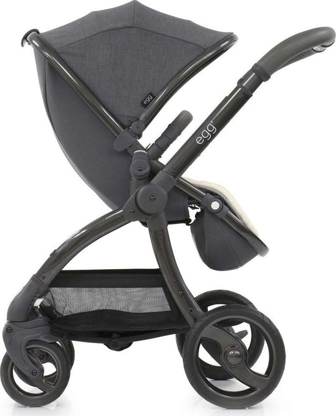 Коляска Egg Quantum Grey & Gun Metal Chassis, ST-QGGM прогулочный блок для второго ребенка egg tandem seat petrol blue