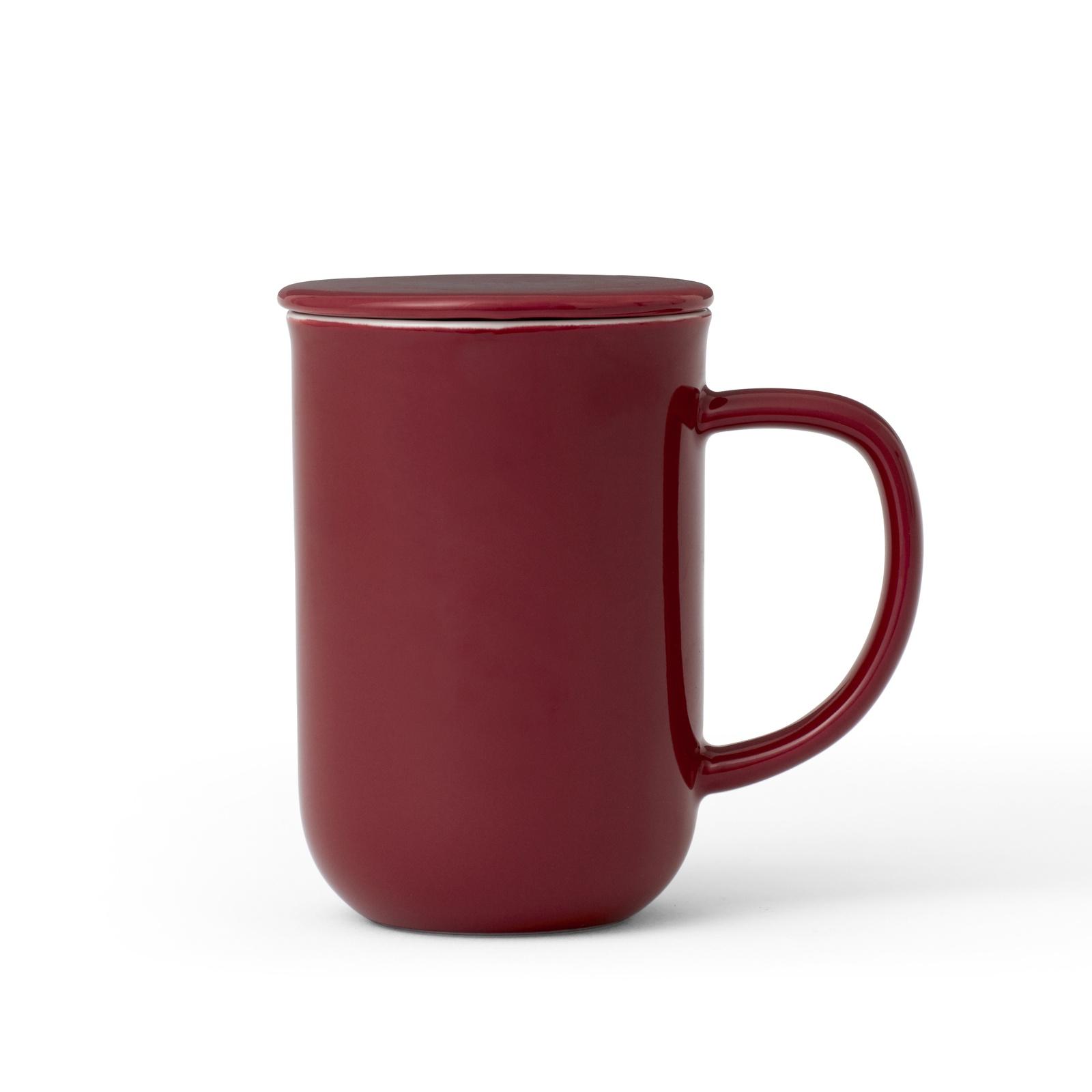 Чайная кружка с ситечком Viva scandinavia Minima, V77540, 500 мл, бордовый