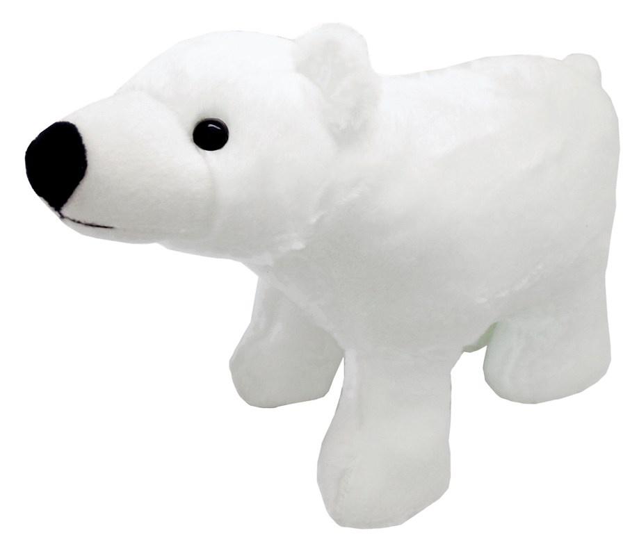 АБВГДЕЙКА Мягкая игрушка Белый медведь, 27 см