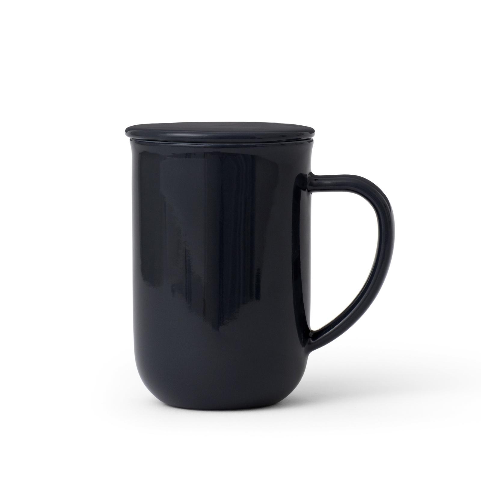 Чайная кружка с ситечком Viva scandinavia Minima, V77545, 500 мл, черный