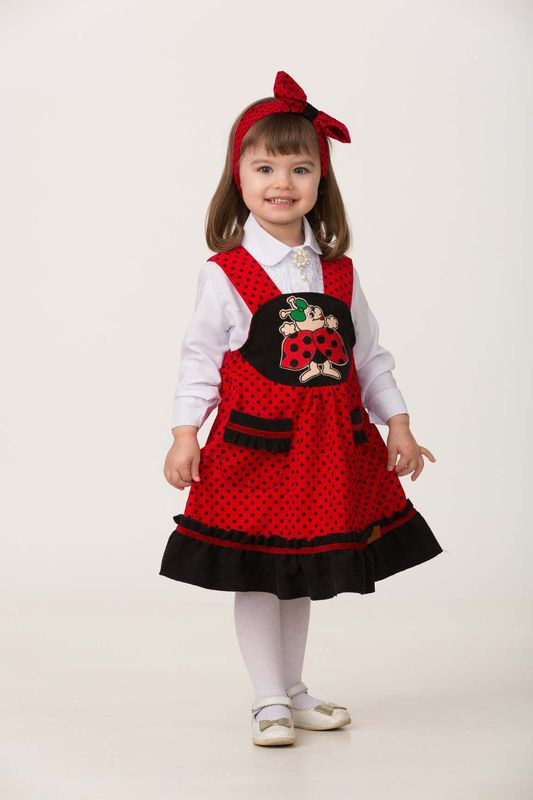 Карнавальный костюм Jeanees Божья коровка Жужалка, цвет: красный. Размер: 26