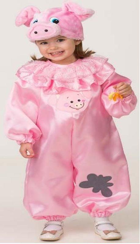 Карнавальный костюм Батик Поросёнок Наф, цвет: розовый. Размер: 28 костюм карнавальный батик дед мороз цвет серебристый синий размер 54 56 354461