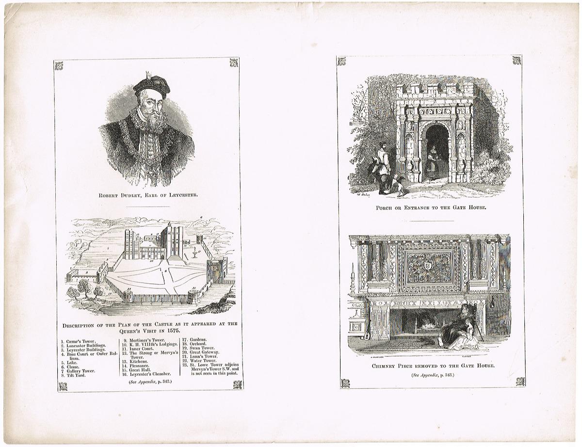 Роберт Дадли, граф Лестер (Robert Dudley, Earl of Leycester)-2. Гравюра, офорт. Великобритания, 19 век донингтон парк резиденция графа мойры лестершир donington park seat of the earl of moira leicestershire гравюра офорт великобритания 1809 год
