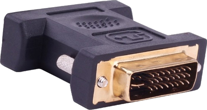 Переходник Vention DVI-I 24+5M/VGA 15F, Black аксессуар vention dvi i 24 5 m vga 15f dv380vg
