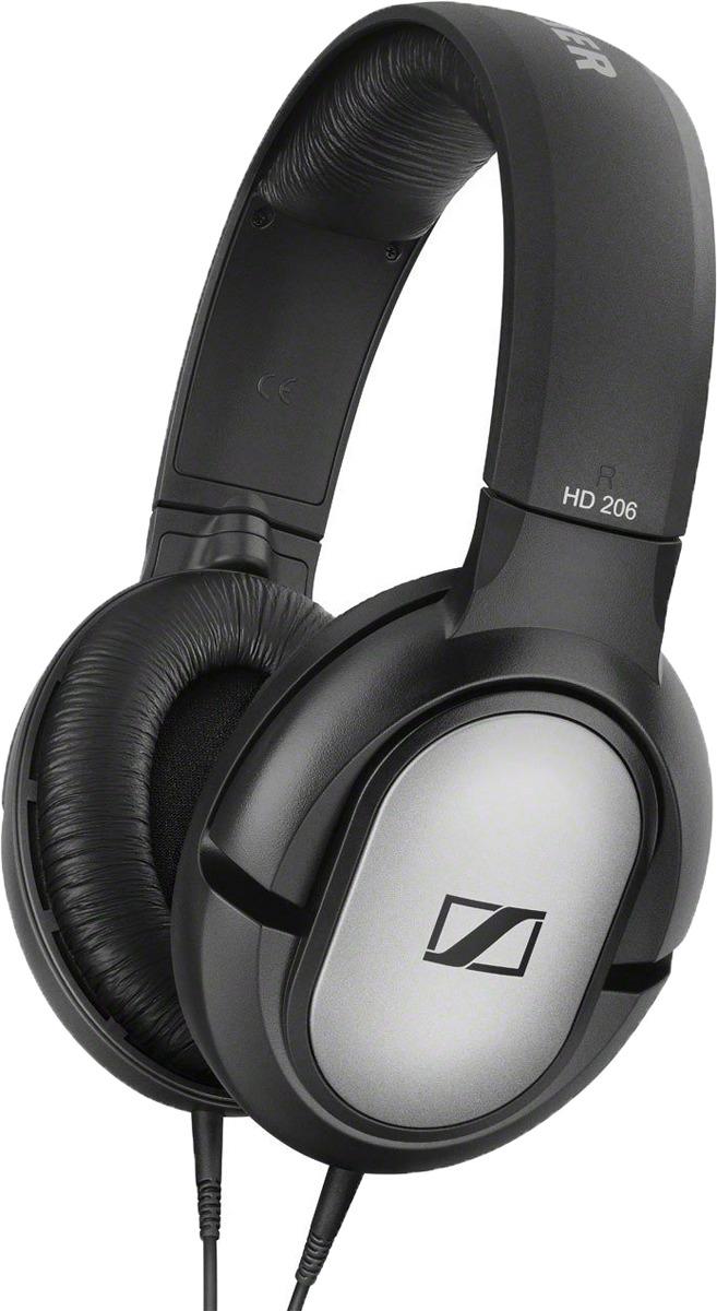 Фото - Наушники Sennheiser HD 206, полноразмерные, цвет: черный наушники sennheiser 508288 накладные закрытые складные 6 25000гц витой кабель 1 5м 3 5мм 108дб