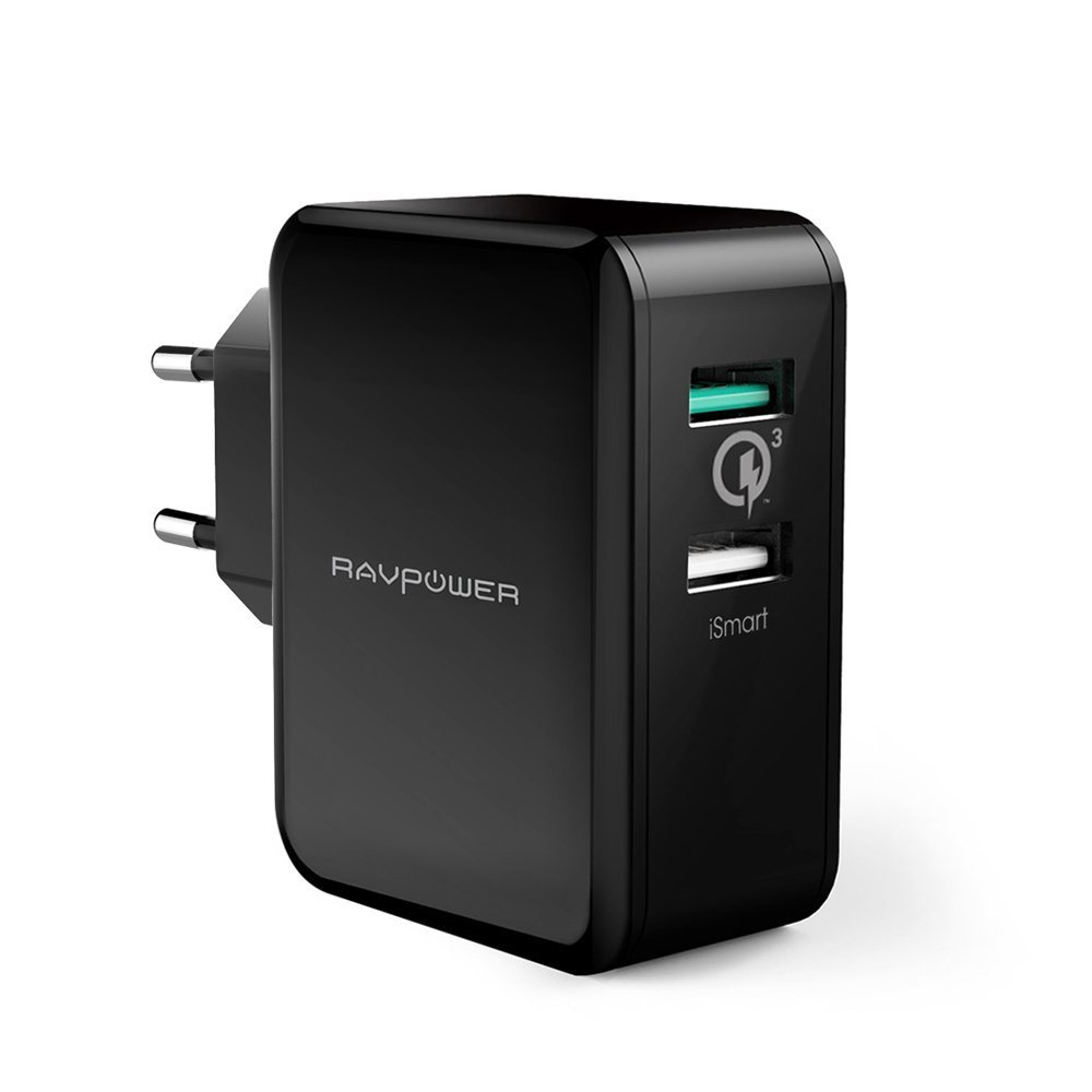 Зарядное устройство Ravpower 30W Quick Charge 3.0 RP-PC006, черный цена и фото
