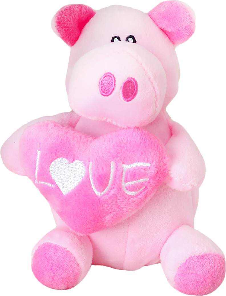 Мягкая игрушка Розовый хрюн в лапках сердце, 3251377, 14 см мягкий рюкзак счастливый поросенок 3138666 розовый
