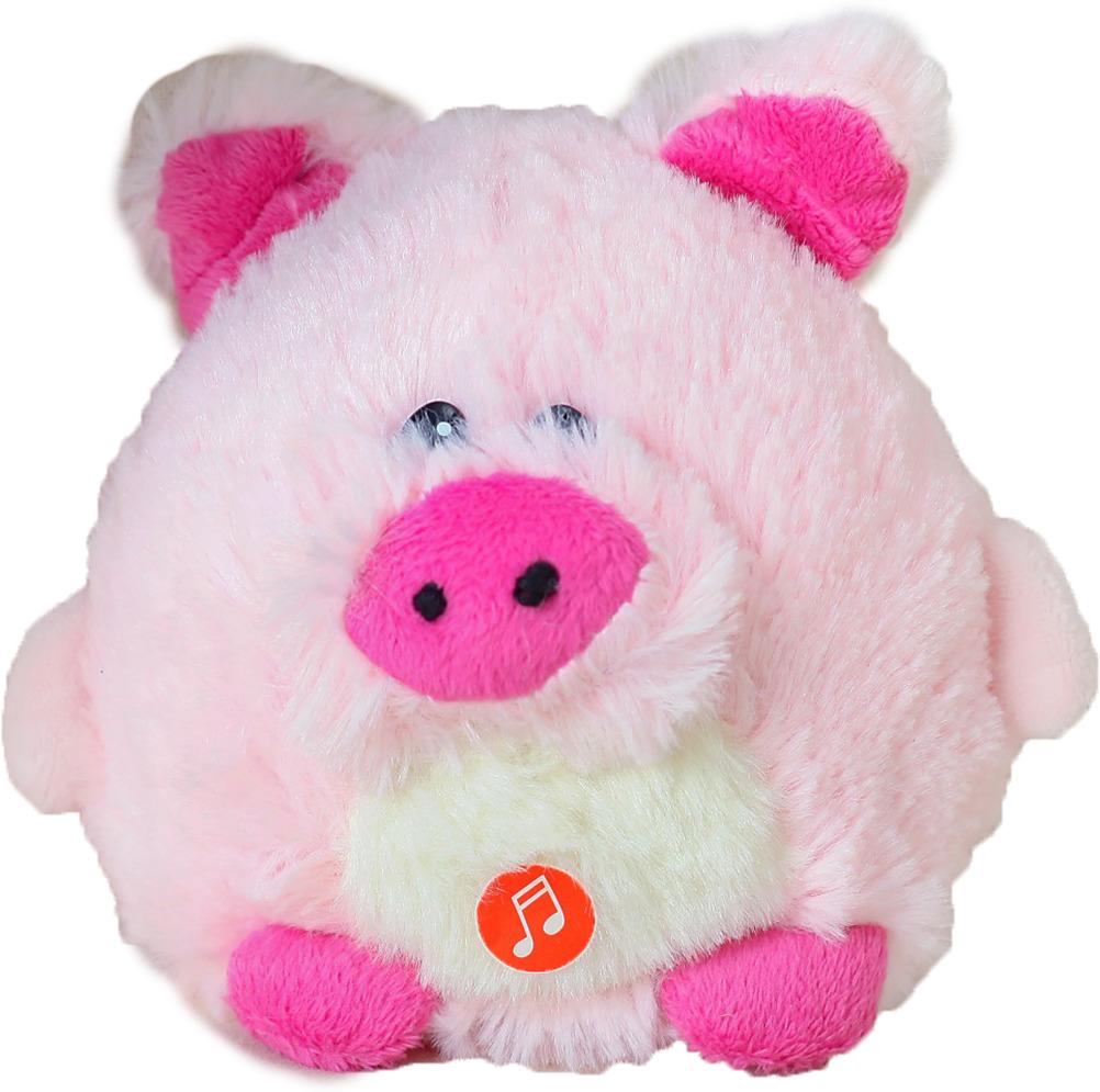 Мягкая музыкальная игрушка Розовый поросенок пушистик, 3251434, 14 см мягкий рюкзак счастливый поросенок 3138666 розовый