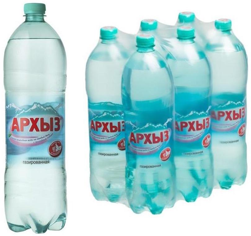 Вода Архыз Vita, минеральная, газированная, 6 шт х 1,5 л