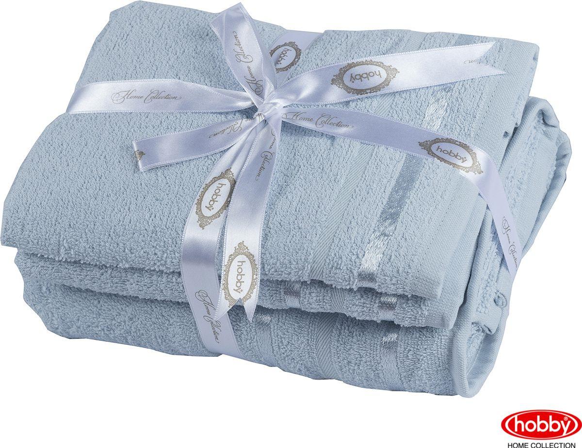 Набор банных полотенец Hobby Home Collection Nisa 2000000167, голубой, 2 шт