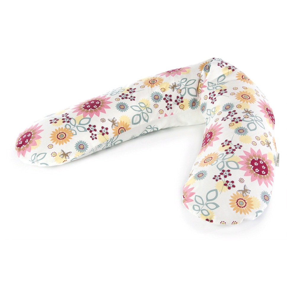 Подушка для кормящих и беременных Theraline Летний сад экрю, кремовый