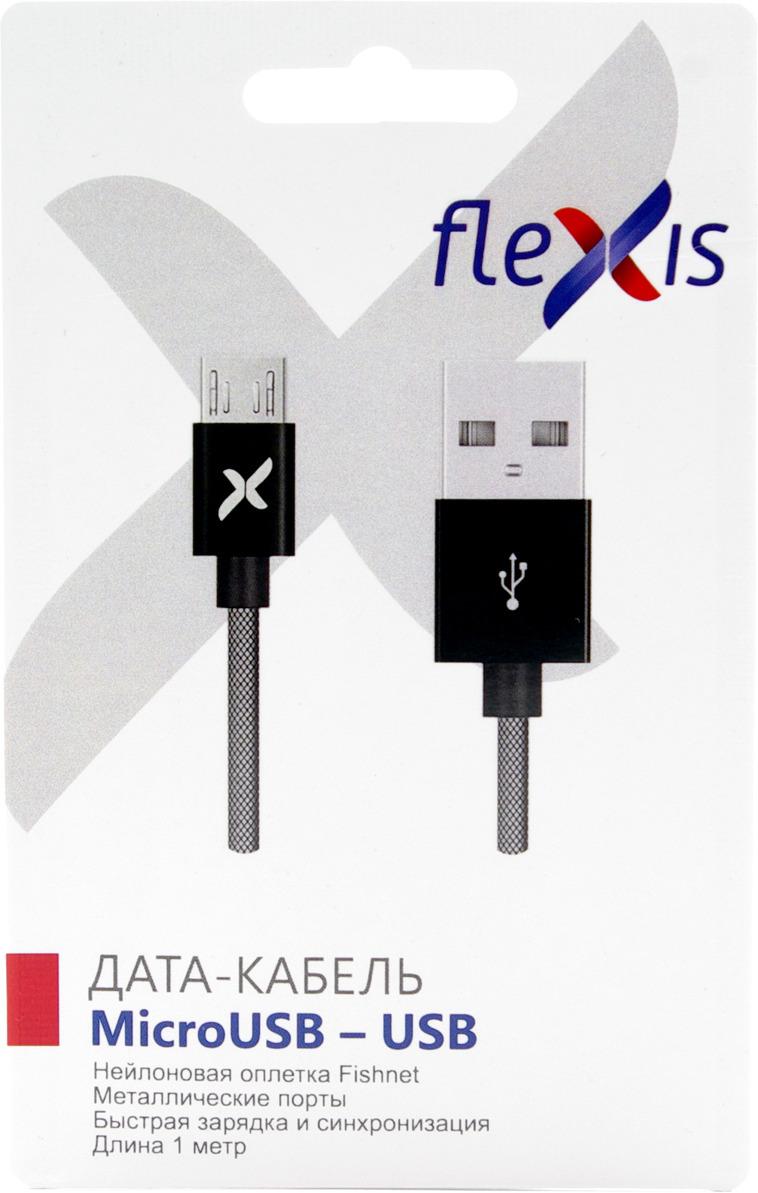 Кабель Flexis Fishnet, FX-CAB-FNMU-BL, черный square fishnet tights