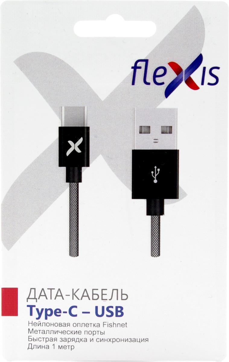 Кабель Flexis Fishnet, FX-CAB-FNTC-BL, черный square fishnet tights