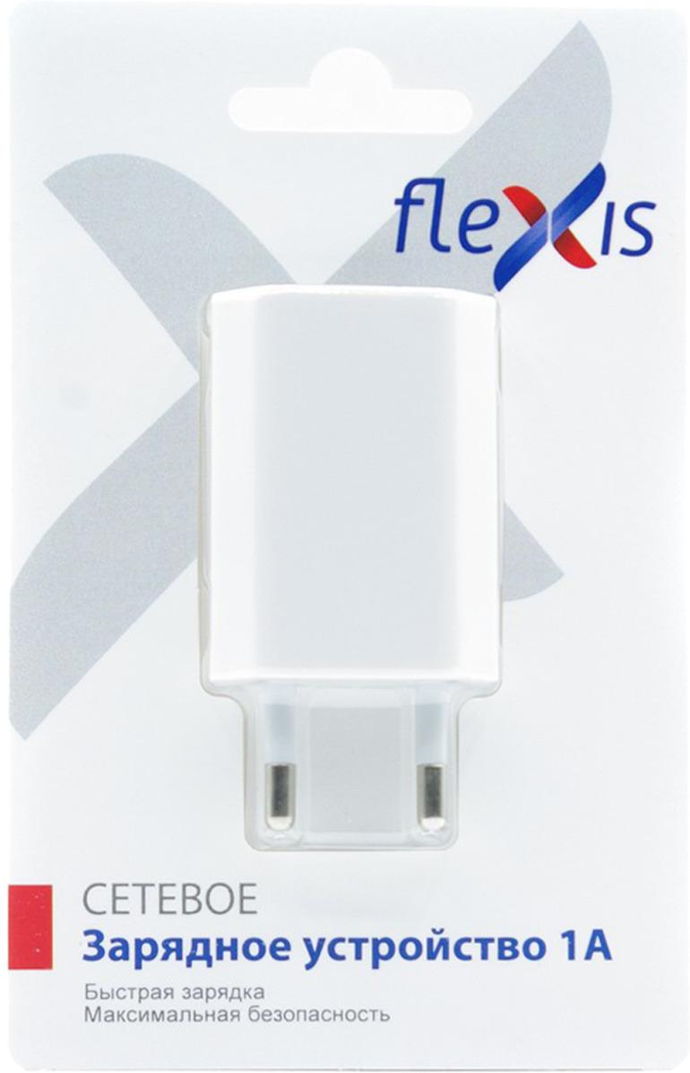 Зарядное устройство Flexis, FX-WC-11A-WH, белый кабель flexis braided fx cab bdmu sv серебристый