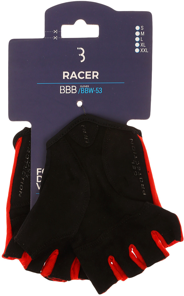 Перчатки велосипедные BBB 2018 Racer, цвет: красный. Размер M улитка wonny zx 090 велосипедные перчатки антискользящие шок летние дышащие перчатки перчатки перчатки синий m