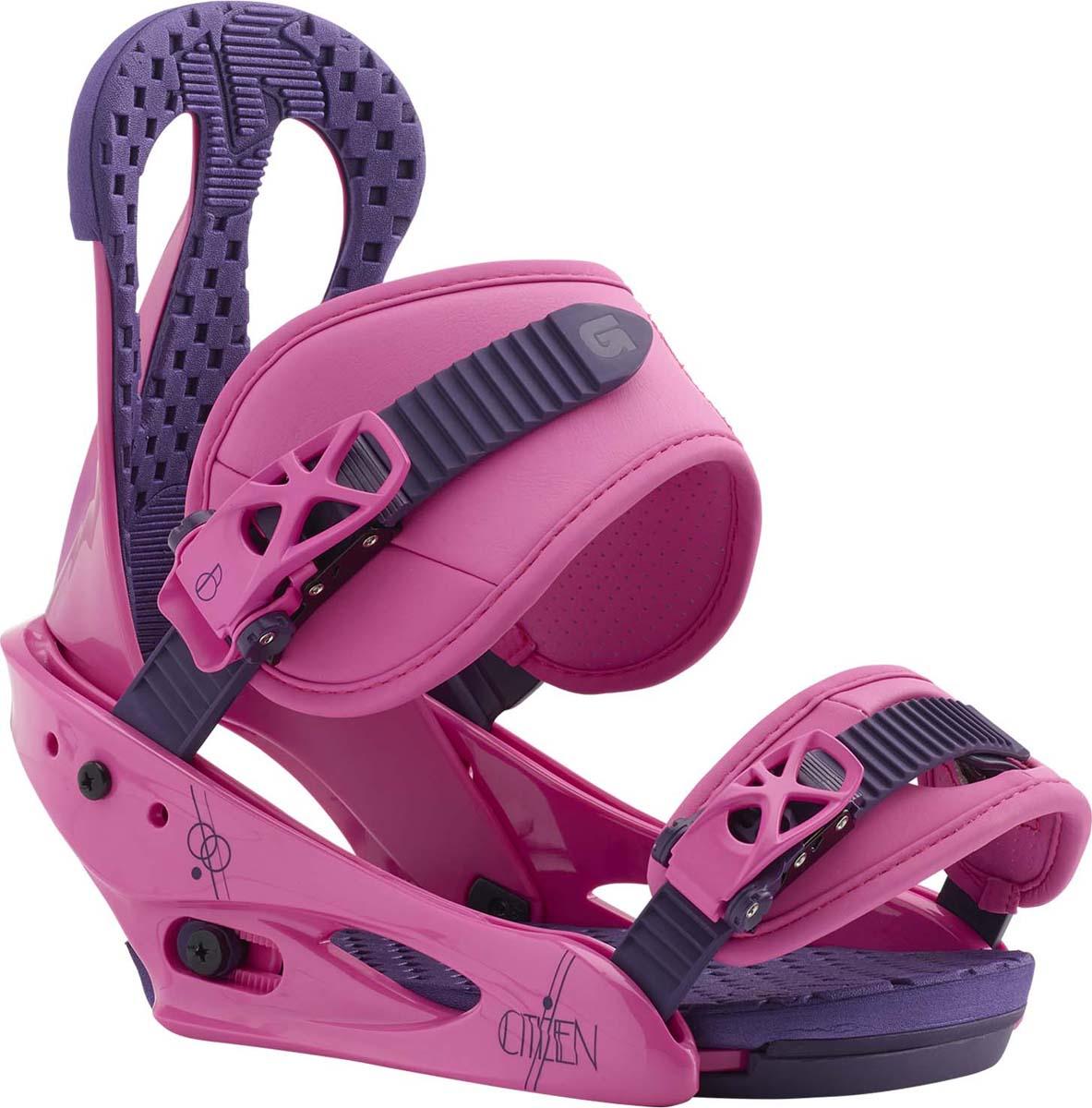 Крепления для сноуборда женские Burton Citizen, цвет: розовый. Размер S