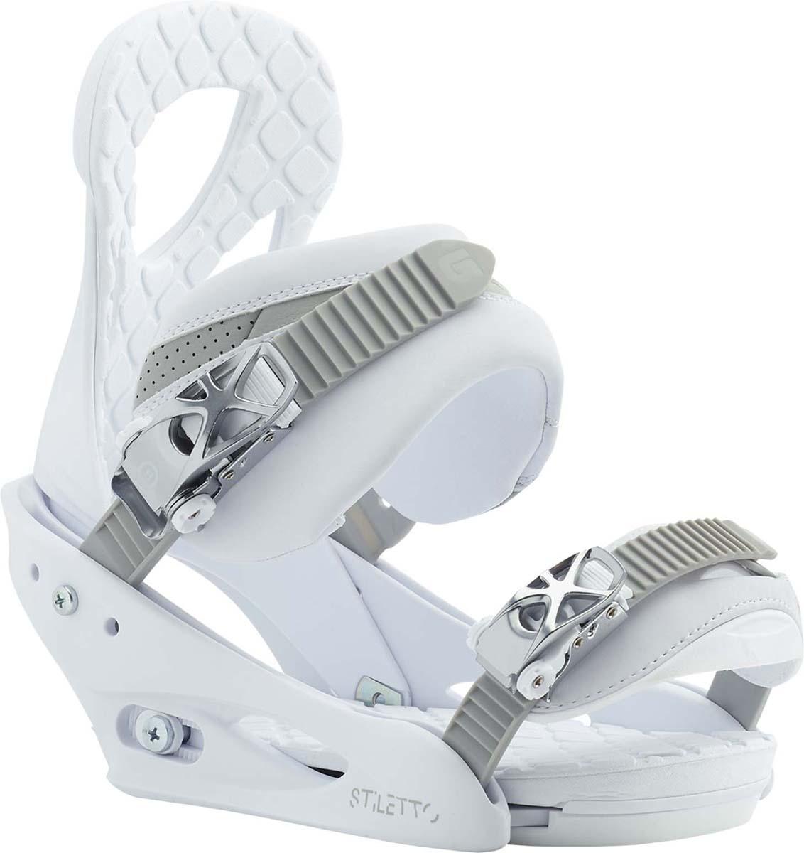 Крепления для сноуборда женские Burton Stiletto, цвет: белый. Размер L