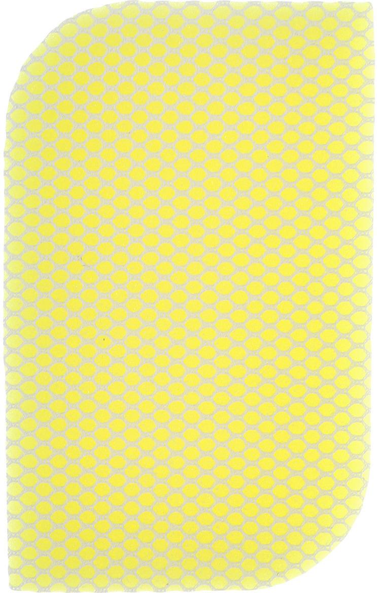 Губка с сеткой Doctor Wax, DW 8632R, нецарапающая, двухсторонняя, желтый