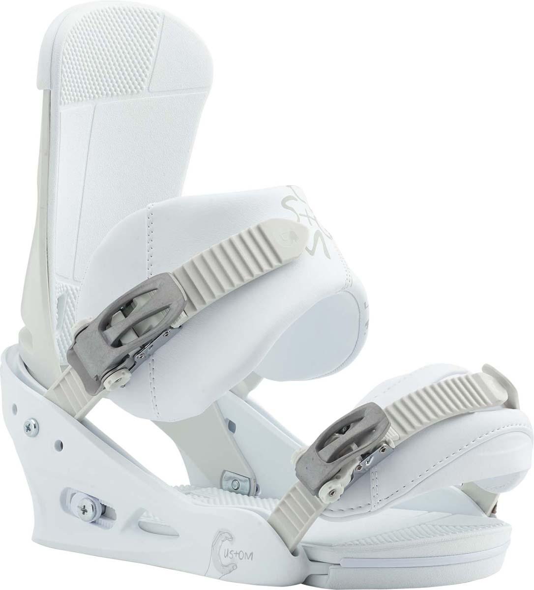 Крепления для сноуборда мужские Burton Custom, цвет: белый. Размер L