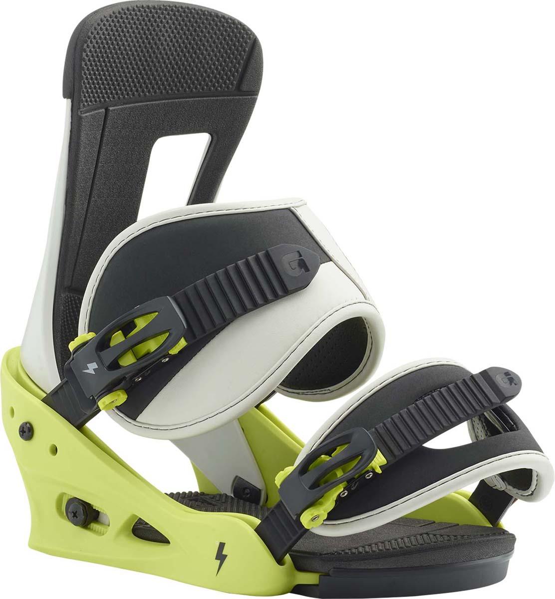 Крепления для сноуборда для мужчин Burton Freestyle, цвет: зеленый. Размер S