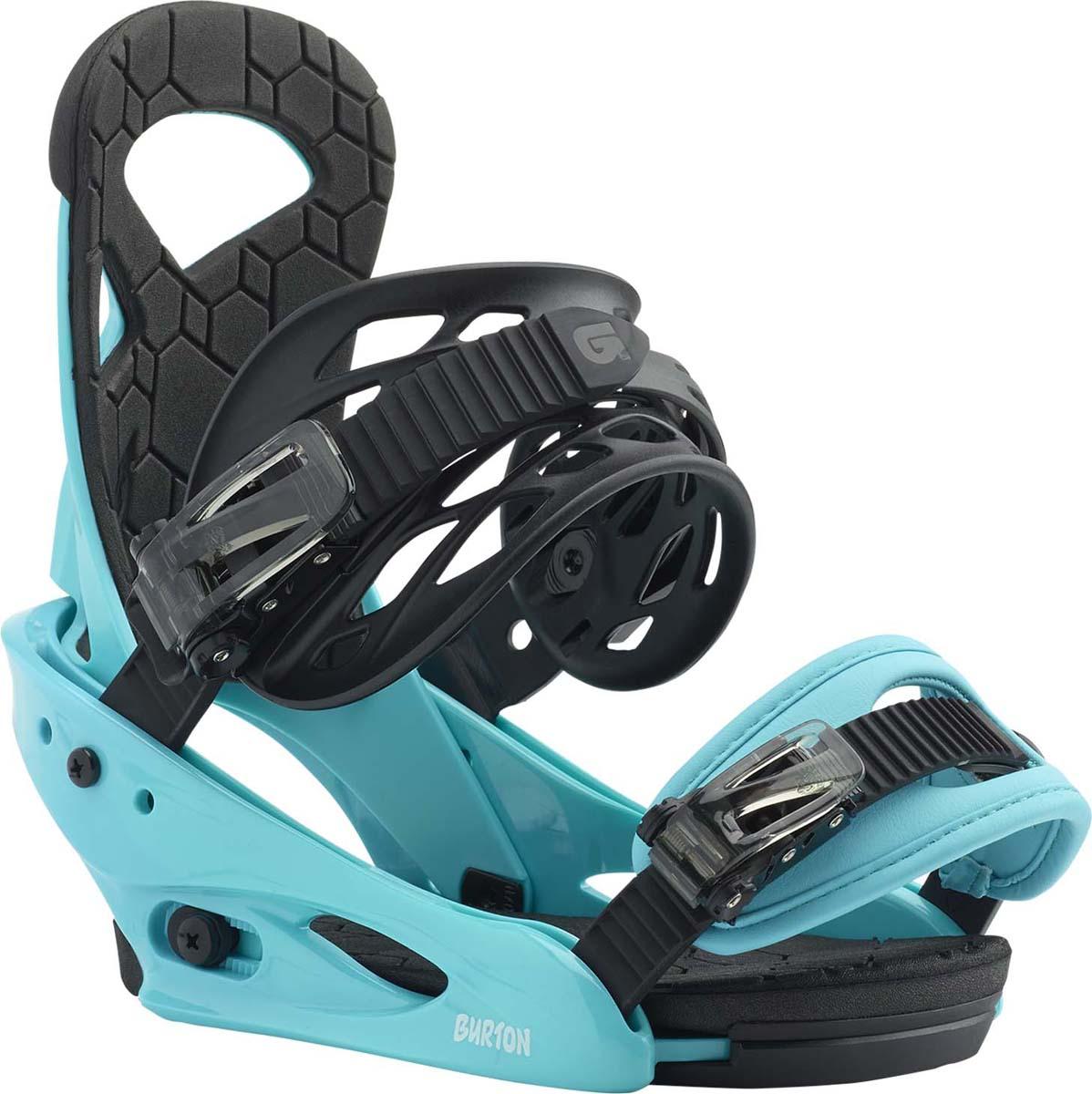 Крепления для сноуборда мальчика Burton Smalls, цвет: синий. Размер L