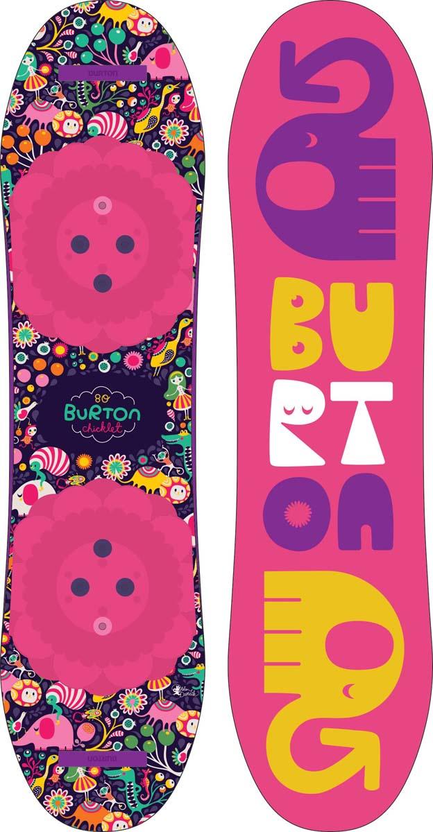 Сноуборд для девочки Burton Chicklet, длина 90 см burton сноуборд burton feelgood flying v 144