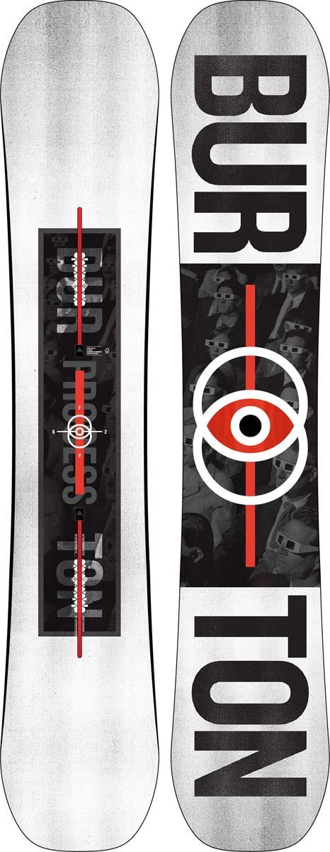Сноуборд мужской Burton Process Fv, длина 162 см сноуборд burton ripcord ростовка 162 см