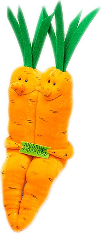 Мягкая игрушка Бюро находок Любовь-морковь, AIG104 рюмка бюро находок сними напряжение цвет прозрачный