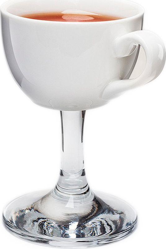 Чашка кофейная на ножке Бюро Находок, APCH01, белый, 150 мл