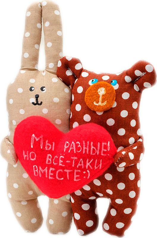 """Мягкая игрушка Бюро находок """"Мишка и заяц. Мы разные но все-таки вместе"""", GR11"""
