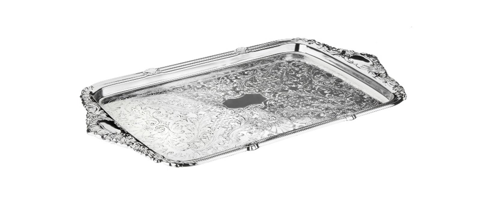 Поднос Queen Anne, QA-0/6458, серебро, 36х25 см muuto предмет сервировки стола