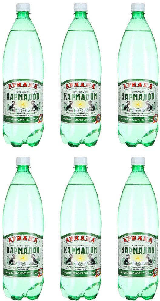 Вода Кармадон Ариана, минеральная, газированная, 6 шт х 1,5 л