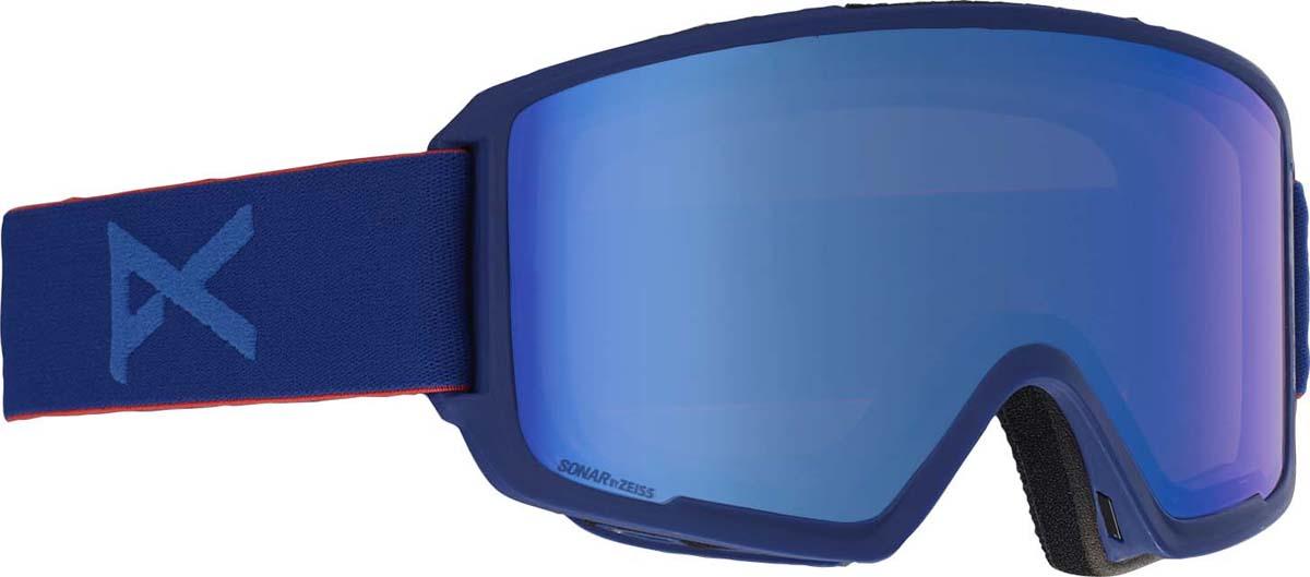 Маска горнолыжная мужская Anon M3 W/Spr, с запасной линзой, цвет: синий коньки хоккейные action play pw 216y черный серый р 39