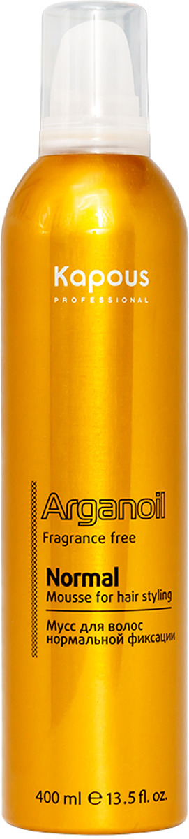 Мусс для укладки волос Kapous Professional Arganoil Fragrance Free, нормальной фиксации, с маслом арганы, 400 мл menard embellir night cream n fragrance free объем 35 мл