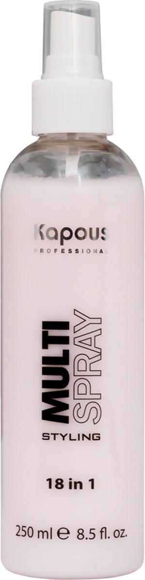 цена на Мультиспрей для укладки волос Kapous Professional Multi Spray, 18 в 1, 250 мл