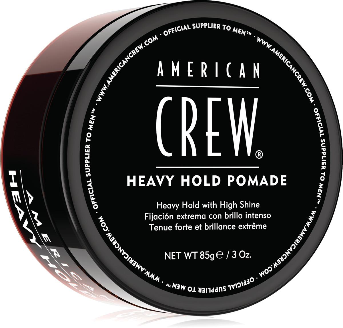 Помада для укладки волос American Crew Heavy Hold Pomade, с сильной фиксацией и высоким уровнем блеска, 85 г